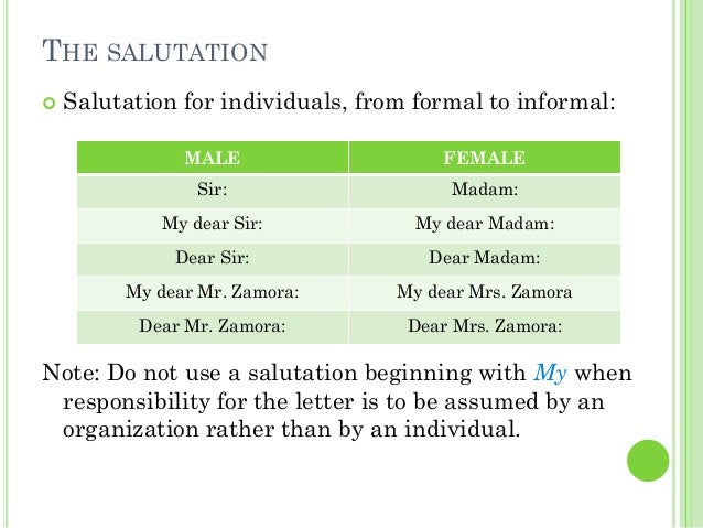what does salutation mean on an application