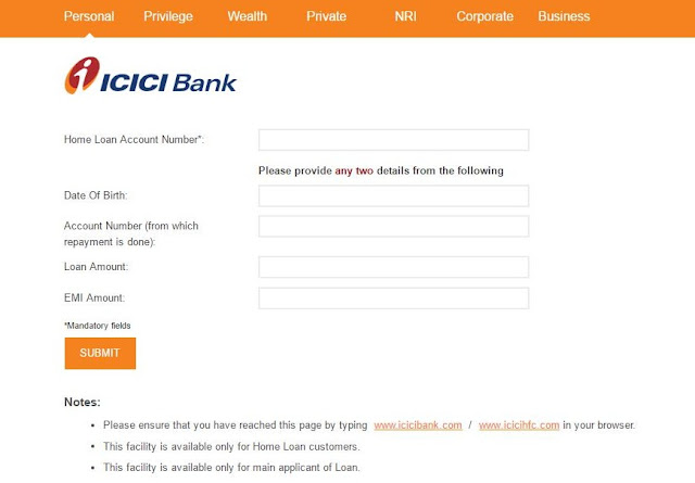 icici bank credit card application status enquiry