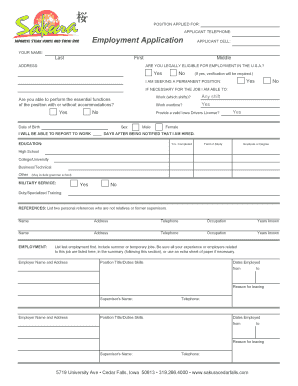 tier 2 change of employment application