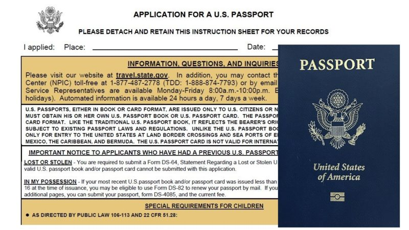 how to fill out child passport application