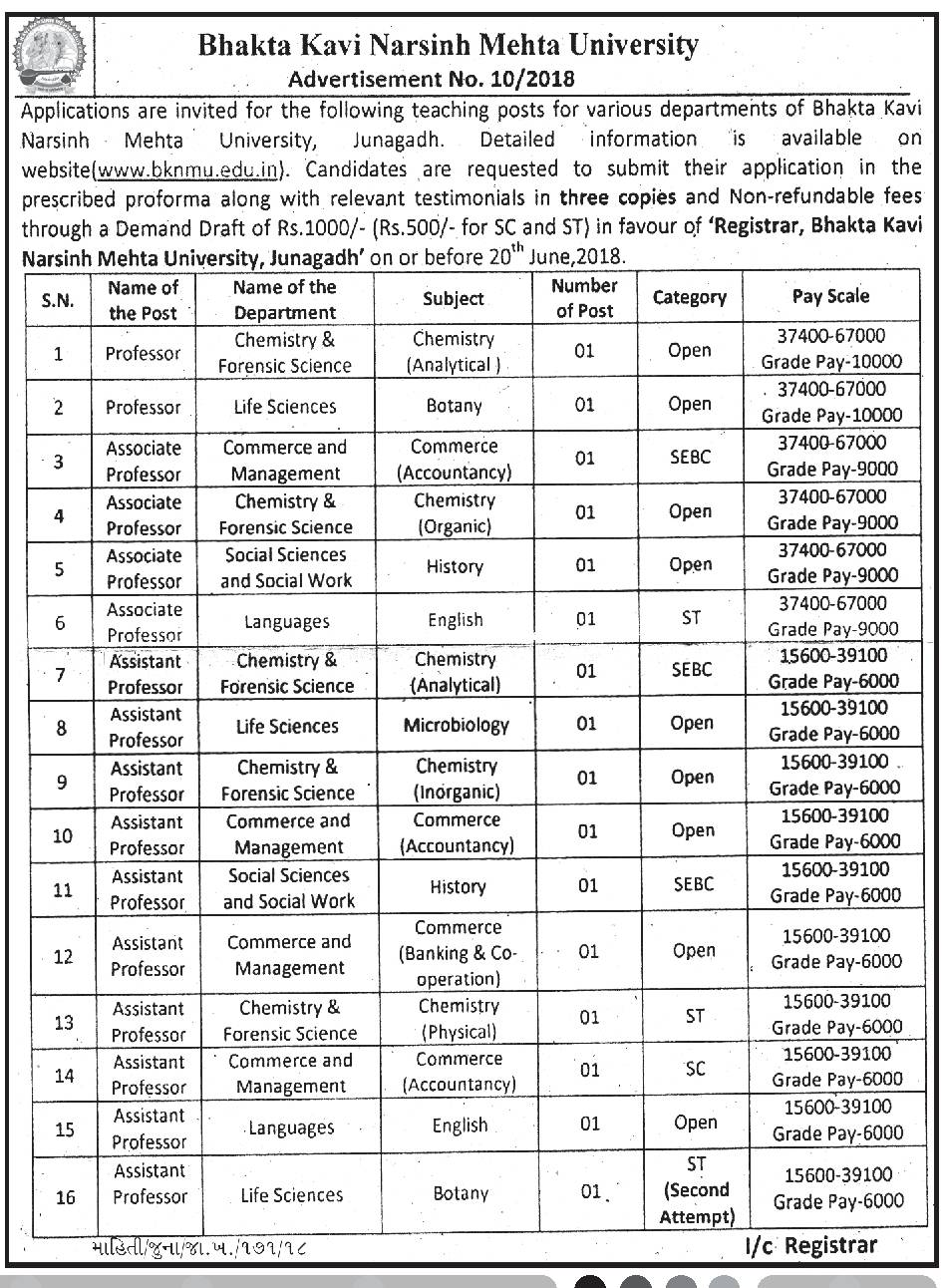 application format for the post of assistant professor