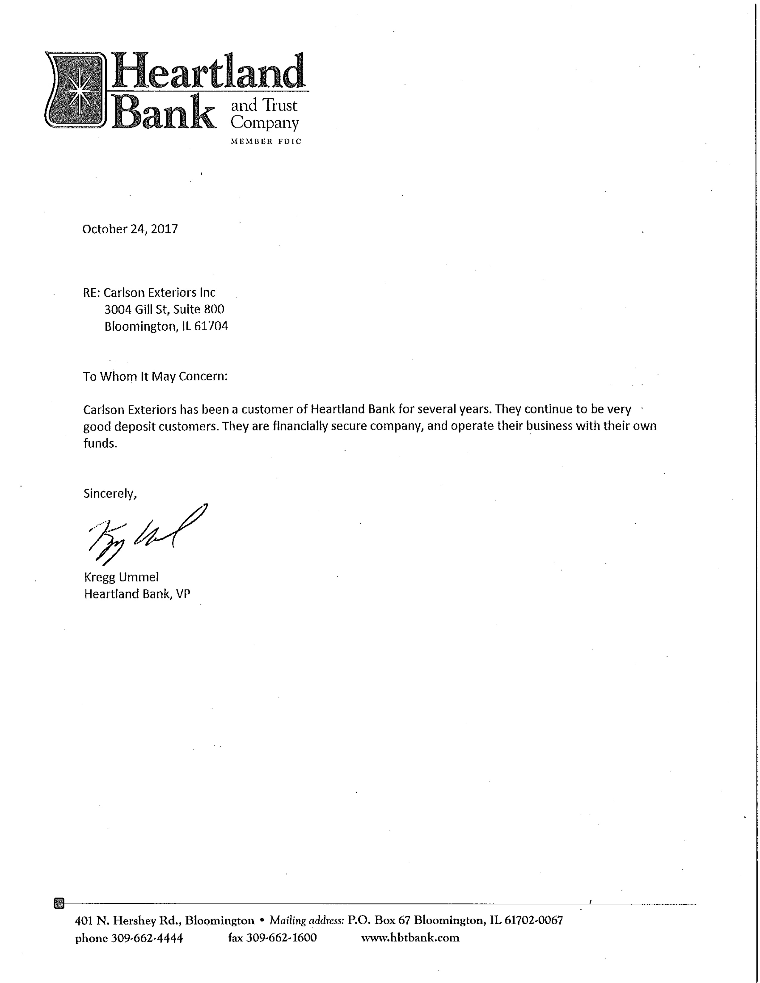 bank reference on credit application