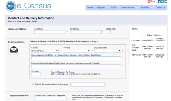 nso philippines birth certificate application form