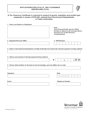 online tax clearance certificate application