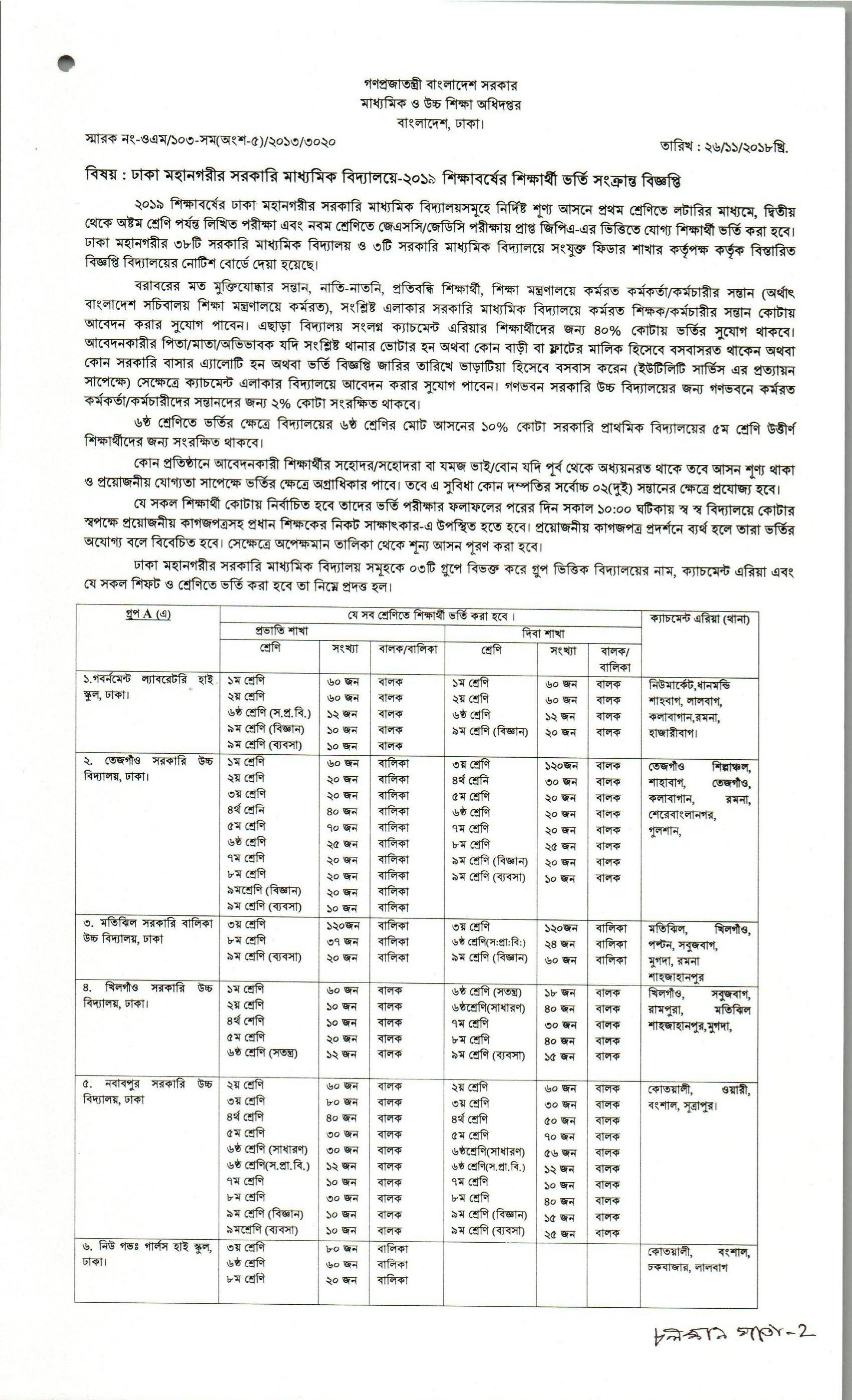 application form for school admission