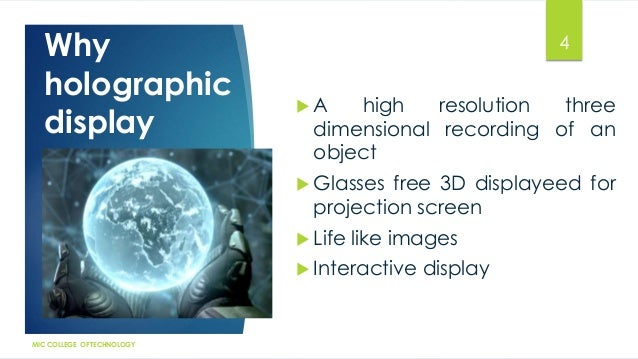 application of laser in holography