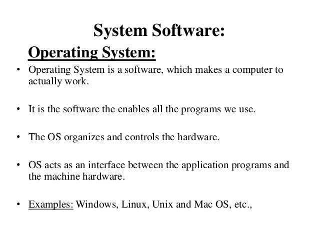 what are the types of application software