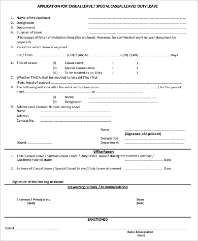half day leave application format