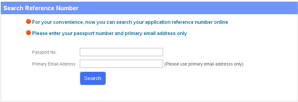 reference address in passport application